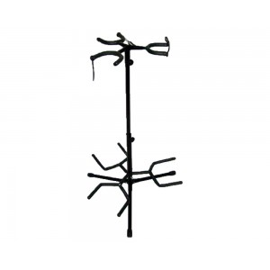 TRIPLE GUITAR STAND  - BLACK - HOLDS 3 GUITARS