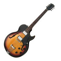 MANNIX: HOLLOW BODY ELECTRIC GUITAR - SUNBURST