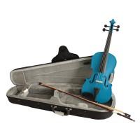 VIOLIN - 3/4 SIZE - BLUE - AWESOME VALUE Violins & Violas