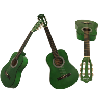 """CLASSIC ACOUSTIC GUITAR 1/2 Size (34"""") GREEN"""