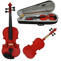 VIOLIN - POPULAR GRADE - 3/4 SIZE - RED brand new