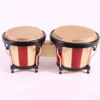"""BONGO - TWO - 6"""" & 7"""" - NATURAL STRIPES Other Percussion Instruments"""